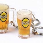 vloeistof sleutelhanger bier