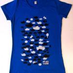discharge print op t-shirt
