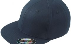 Navy hiphop cap met platte klep