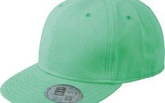 Hiphopcap met platte klep groen