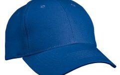 6-paneels cap van 100% ongeborsteld katoen.