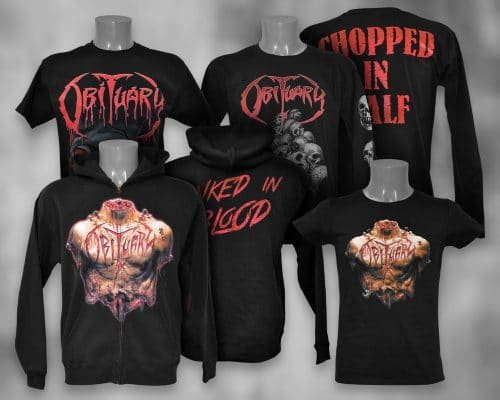 Obituary tour shirts met zeefdruk