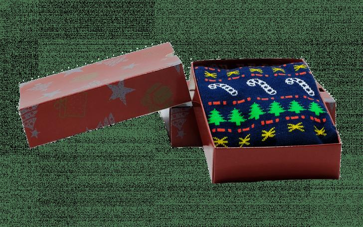 Kerstsokken in verpakking