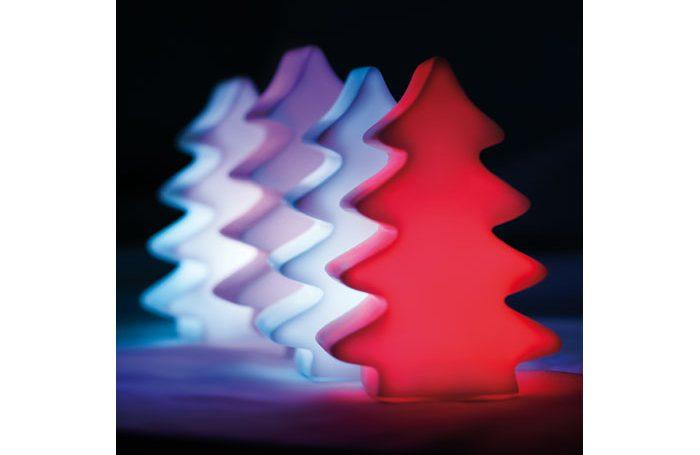 LED kerstboompje met verschillende kleuren moodlight